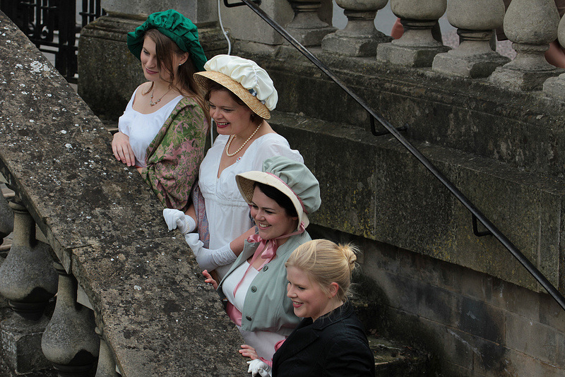 Women in Regency costume