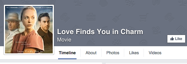Facebook page for 'Love Finds You in Charm'